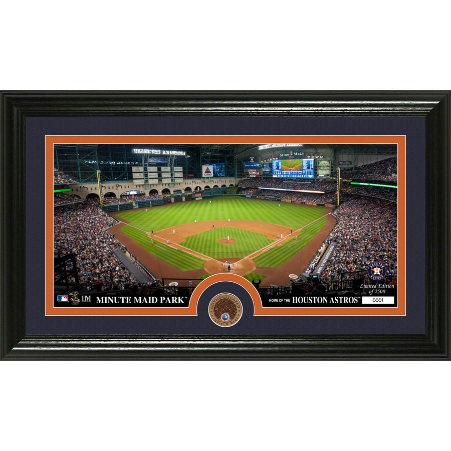 The Highland Mint 20-in W x 12-in H Houston Astros Infield Dirt Coin Panoramic Photo Mint Wall Art