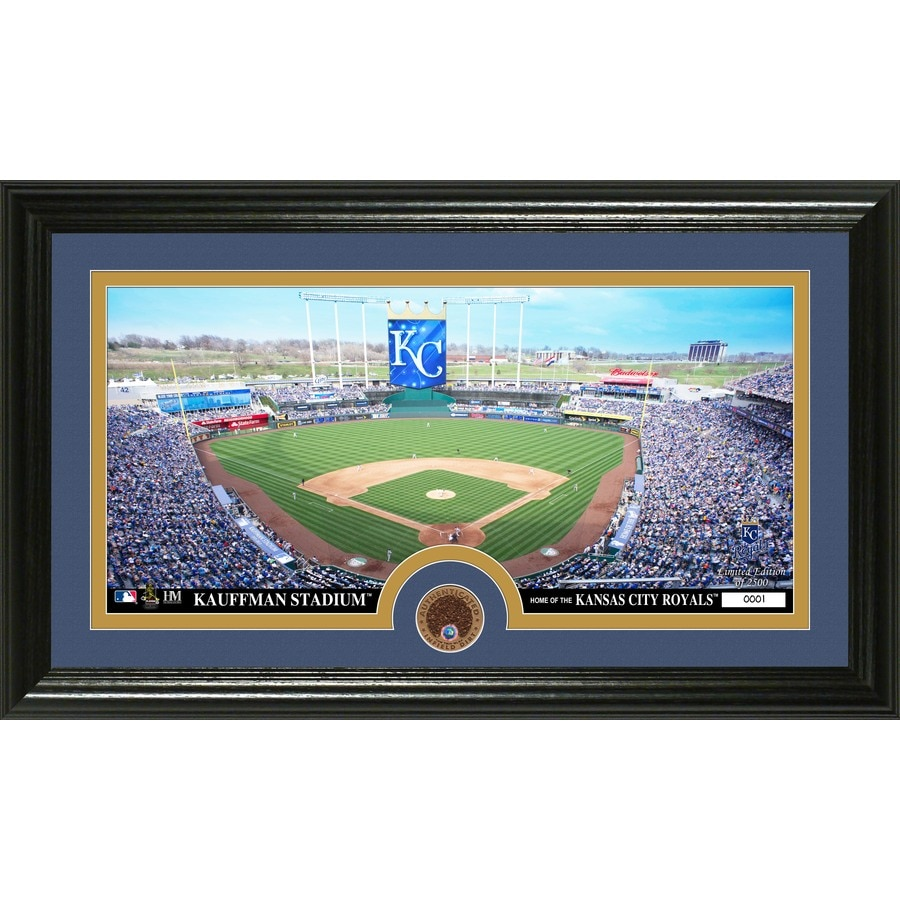 The Highland Mint 20-in W x 12-in H Kansas City Royals Infield Dirt Coin Panoramic Photo Mint Wall Art