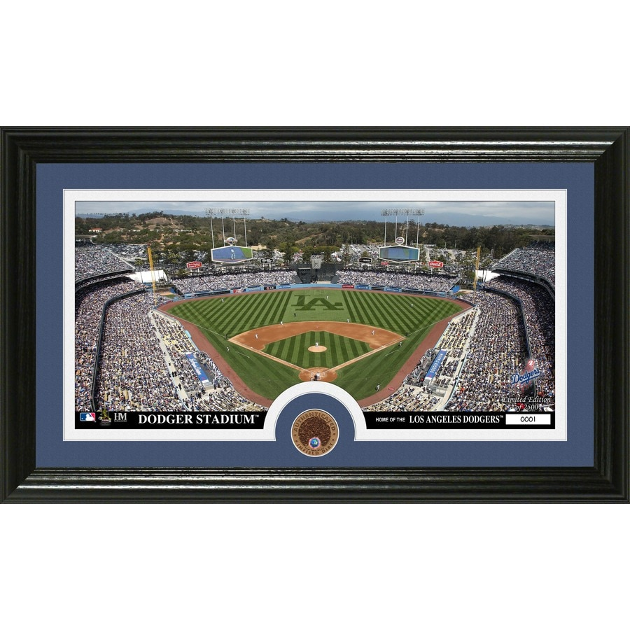 The Highland Mint 20-in W x 12-in H Los Angeles Dodgers Infield Dirt Coin Panoramic Photo Mint Wall Art