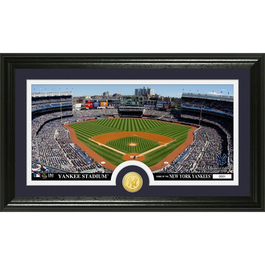 The Highland Mint 20-in W x 12-in H New York Yankees Minted Coin Panoramic Photo Mint Wall Art
