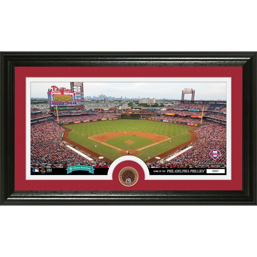 The Highland Mint 20-in W x 12-in H Philadelphia Phillies Infield Dirt Coin Panoramic Photo Mint Limited Editions