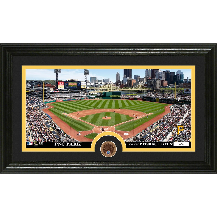The Highland Mint 20-in W x 12-in H Pittsburgh Pirates Infield Dirt Coin Panoramic Photo Mint Limited Editions