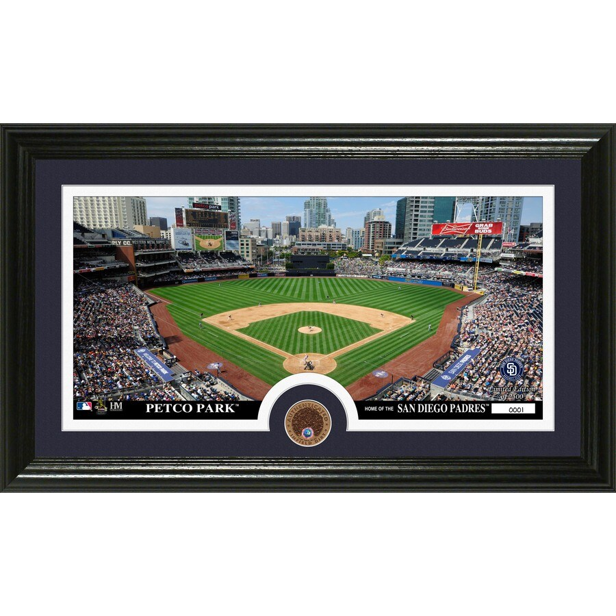 The Highland Mint 20-in W x 12-in H San Diego Padres Dirt Coin Panoramic Photo Mint Wall Art