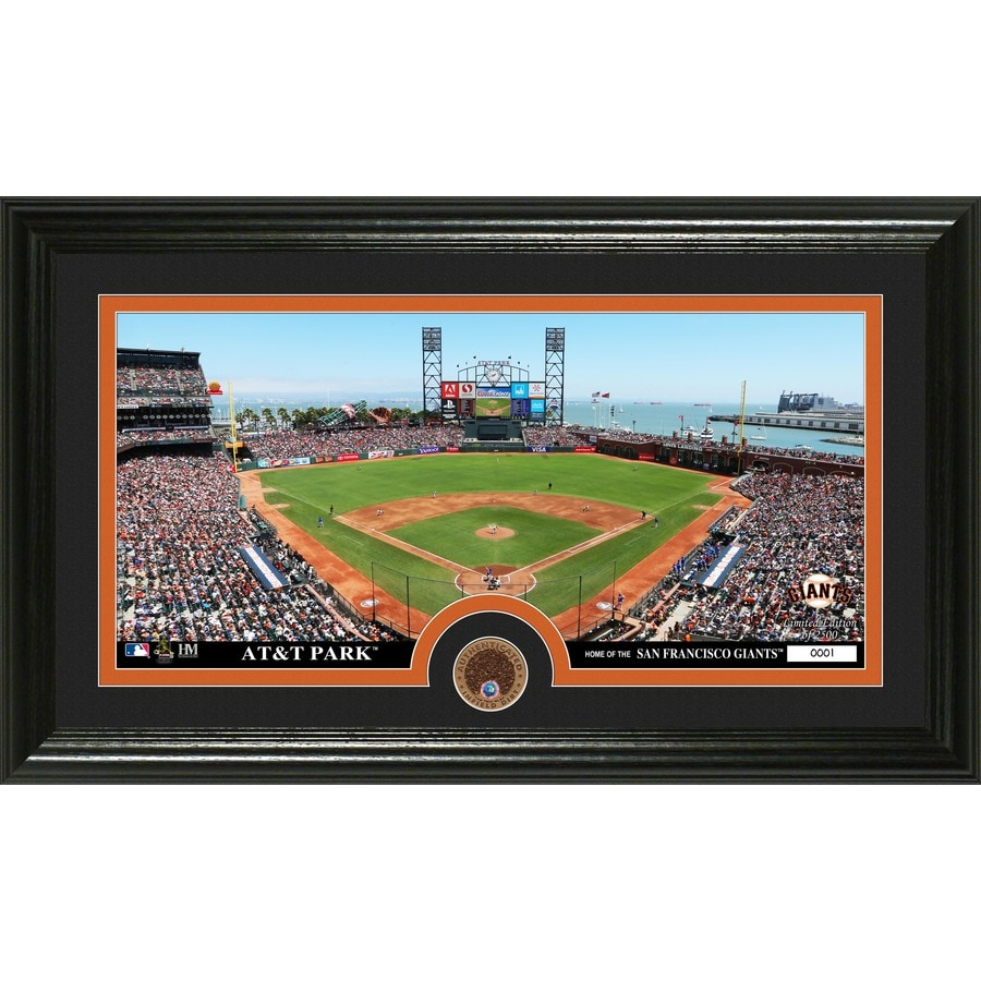 The Highland Mint 20-in W x 12-in H San Francisco Giants Infield Dirt Coin Panoramic Photo Mint Wall Art