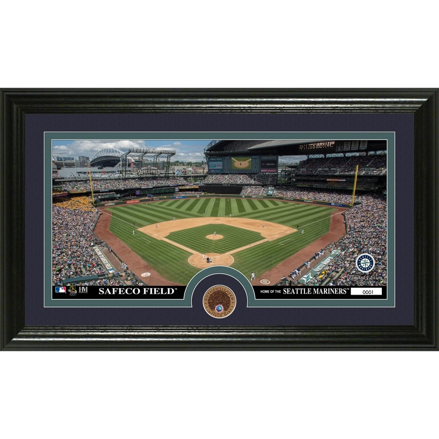 The Highland Mint 20-in W x 12-in H Seattle Mariners Infield Dirt Coin Panoramic Photo Mint Wall Art