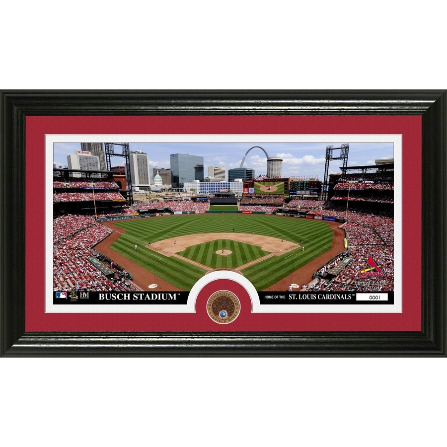 The Highland Mint 20-in W x 12-in H Saint Louis Cardinals Infield Dirt Coin Panoramic Photo Mint Wall Art