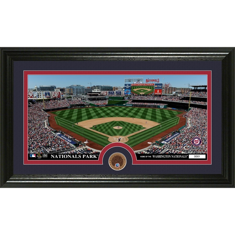 The Highland Mint 20-in W x 12-in H Washington Nationals Infield Dirt Coin Panoramic Photo Mint Wall Art