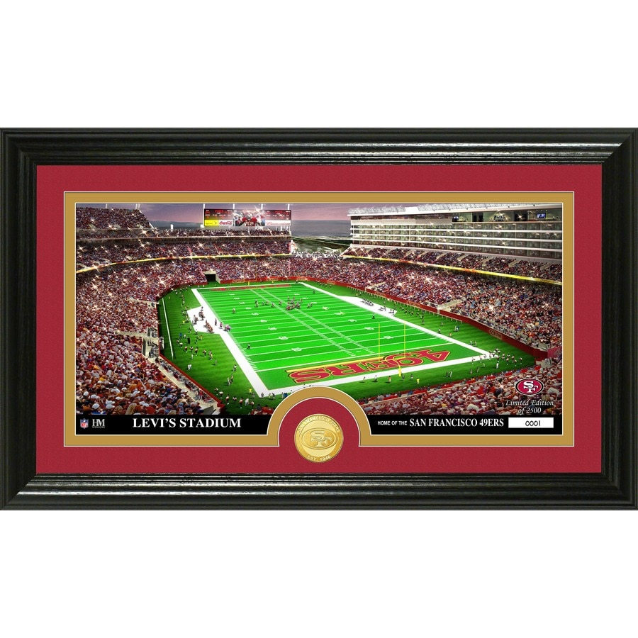 The Highland Mint 20-in W x 12-in H San Francisco 49Ers Stadium Bronze Coin Panoramic Photo Mint Wall Art