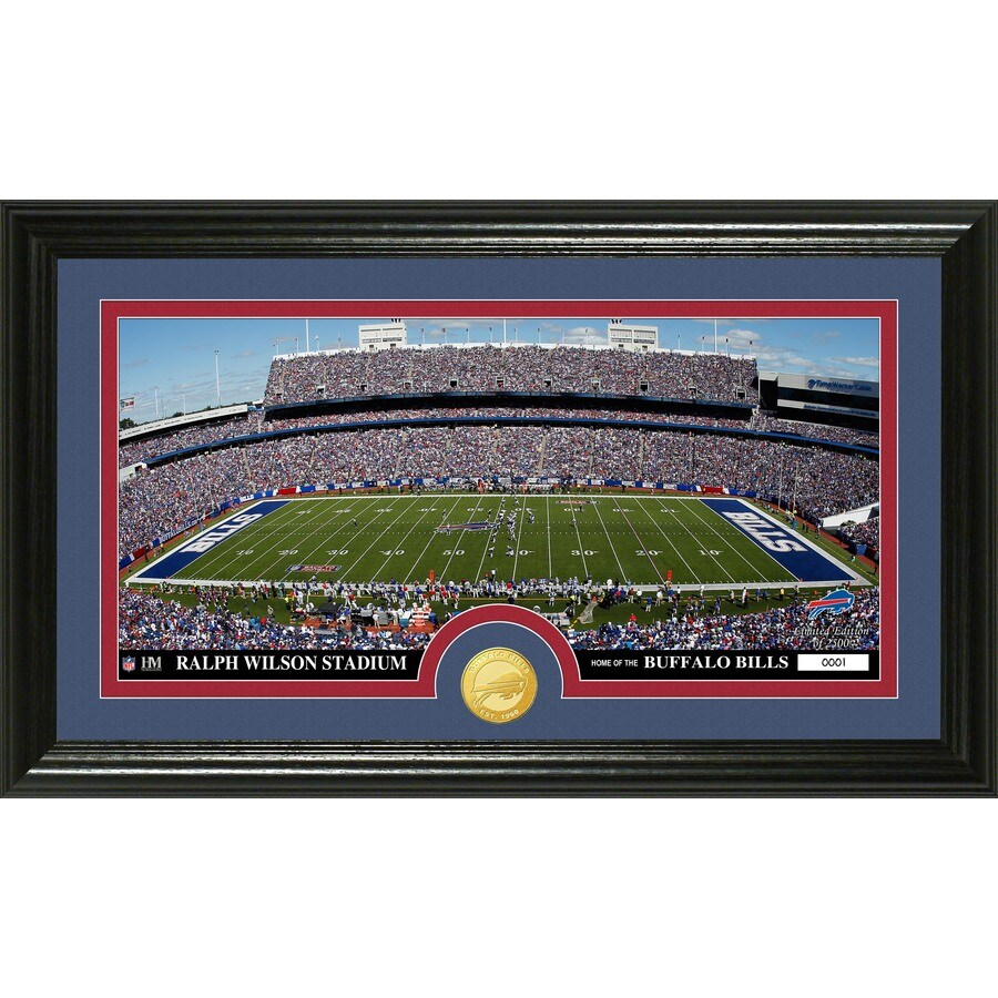 The Highland Mint 20-in W x 12-in H Buffalo Bills Stadium Bronze Coin Panoramic Photo Mint Wall Art