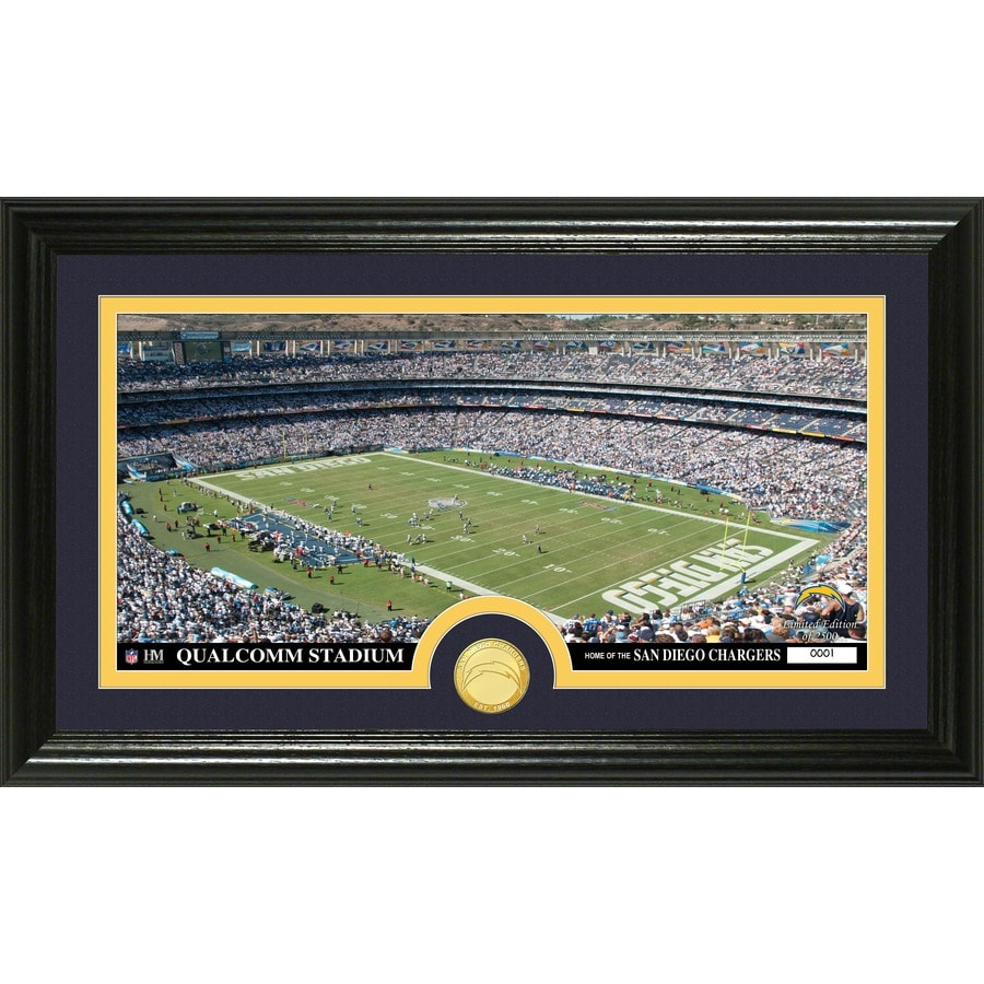 The Highland Mint 20-in W x 12-in H San Diego Chargers Stadium Bronze Coin Panoramic Photo Mint Wall Art