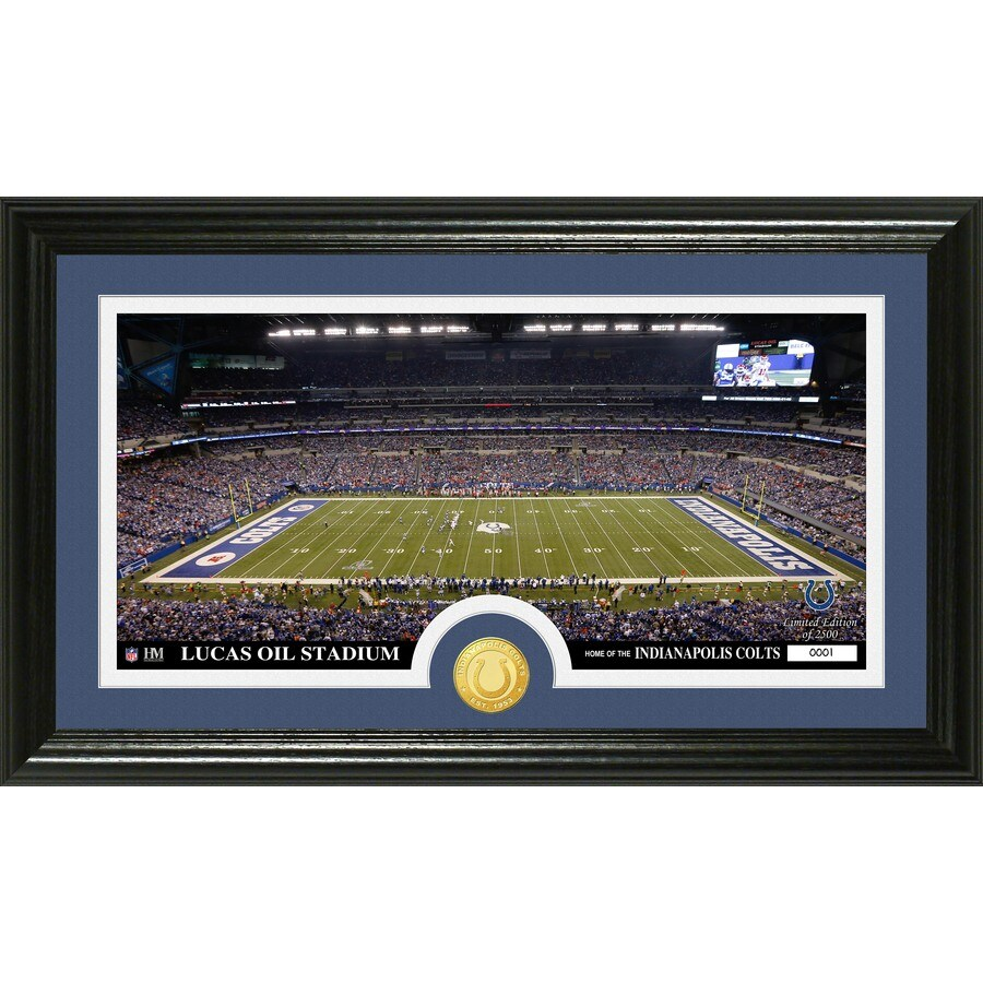 The Highland Mint 20-in W x 12-in H Indianapolis Colts Stadium Bronze Coin Panoramic Photo Mint Wall Art