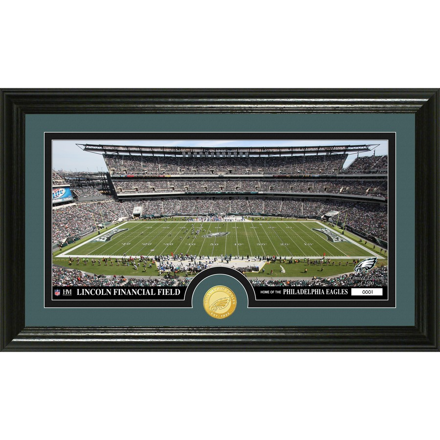 The Highland Mint 20-in W x 12-in H Philadelphia Eagles Stadium Bronze Coin Panoramic Photo Mint Wall Art