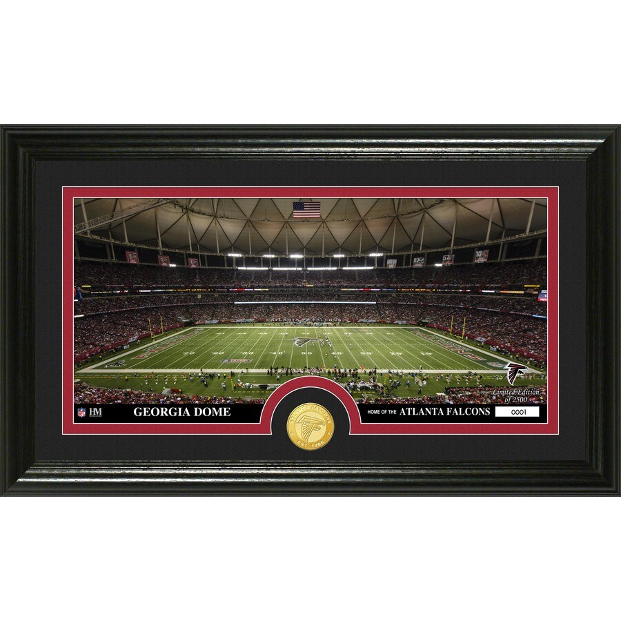 The Highland Mint 20-in W x 12-in H Atlanta Falcons Stadium Bronze Coin Panoramic Photo Mint Wall Art