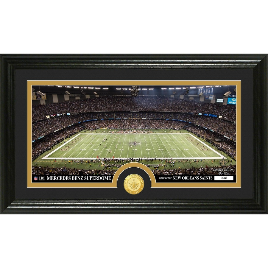 The Highland Mint 20-in W x 12-in H New Orleans Saints Stadium Bronze Coin Panoramic Photo Mint Limited Editions