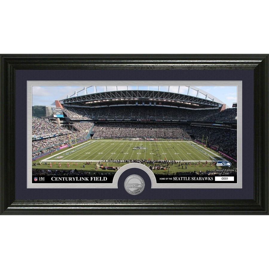 The Highland Mint 20-in W x 12-in H Seattle Seahawks Stadium Minted Coin Panoramic Photo Mint Limited Editions