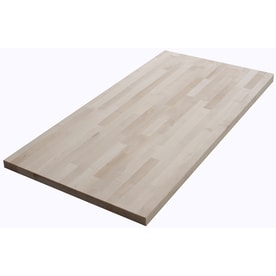 The Baltic Butcher Block 4 Ft Natural Straight Birch Kitchen Countertop