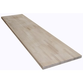 The Baltic Butcher Block 8 Ft Natural Straight Birch Kitchen Countertop
