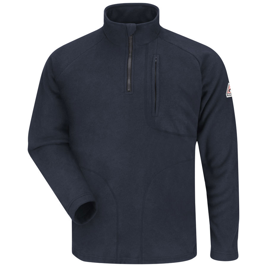 Bulwark Men's X-Large Navy Flame Resistant Sweatshirt