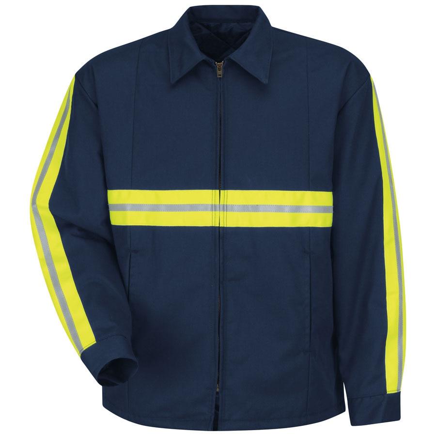 Red Kap XX-Large Men's Navy Twill Enhanced Visibility Panel Jacket