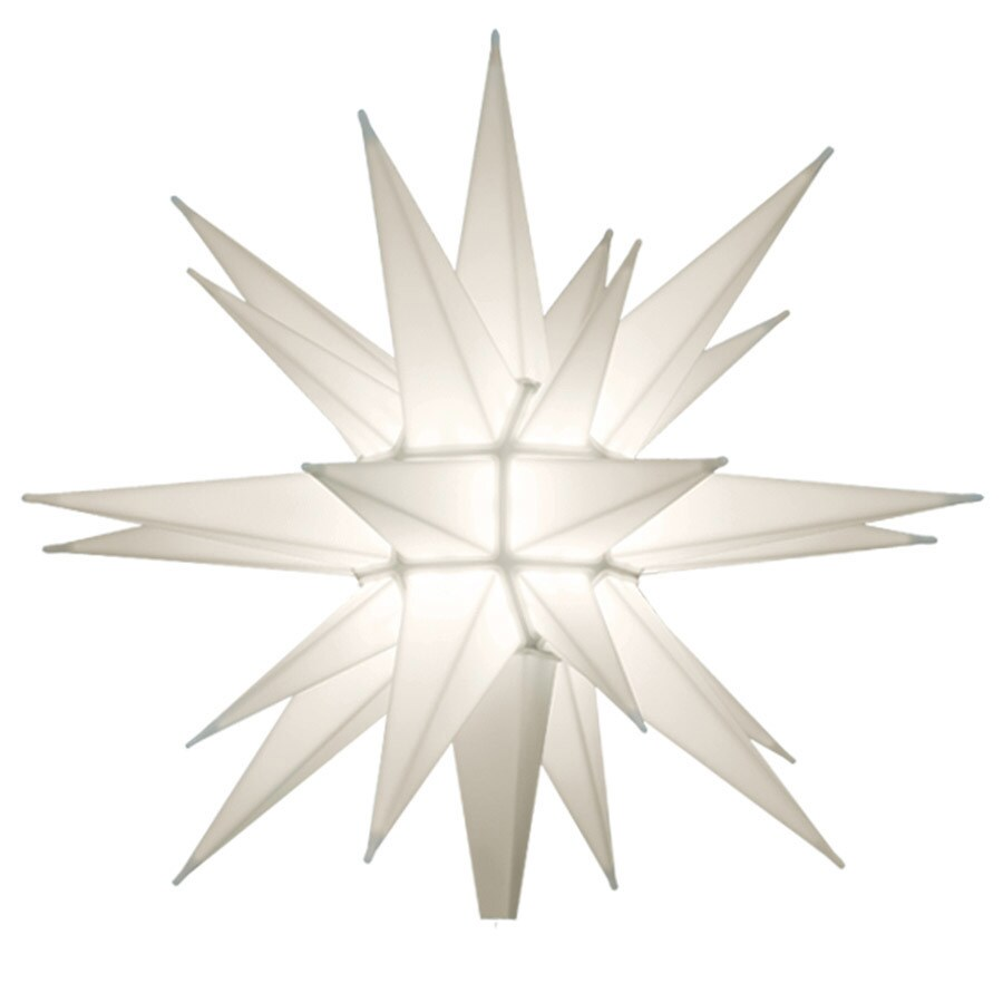 Holiday Living HOLIDAY LIVING 12 IN PRE-LIT WHITE LED CHRISTMAS TREE TOPPER