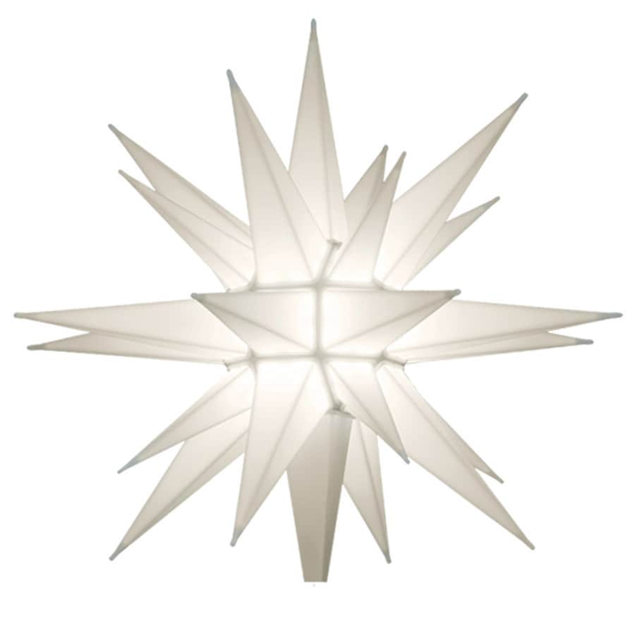Holiday Living 12 IN PRE-LIT WHITE LED CHRISTMAS TREE TOPPER at ...