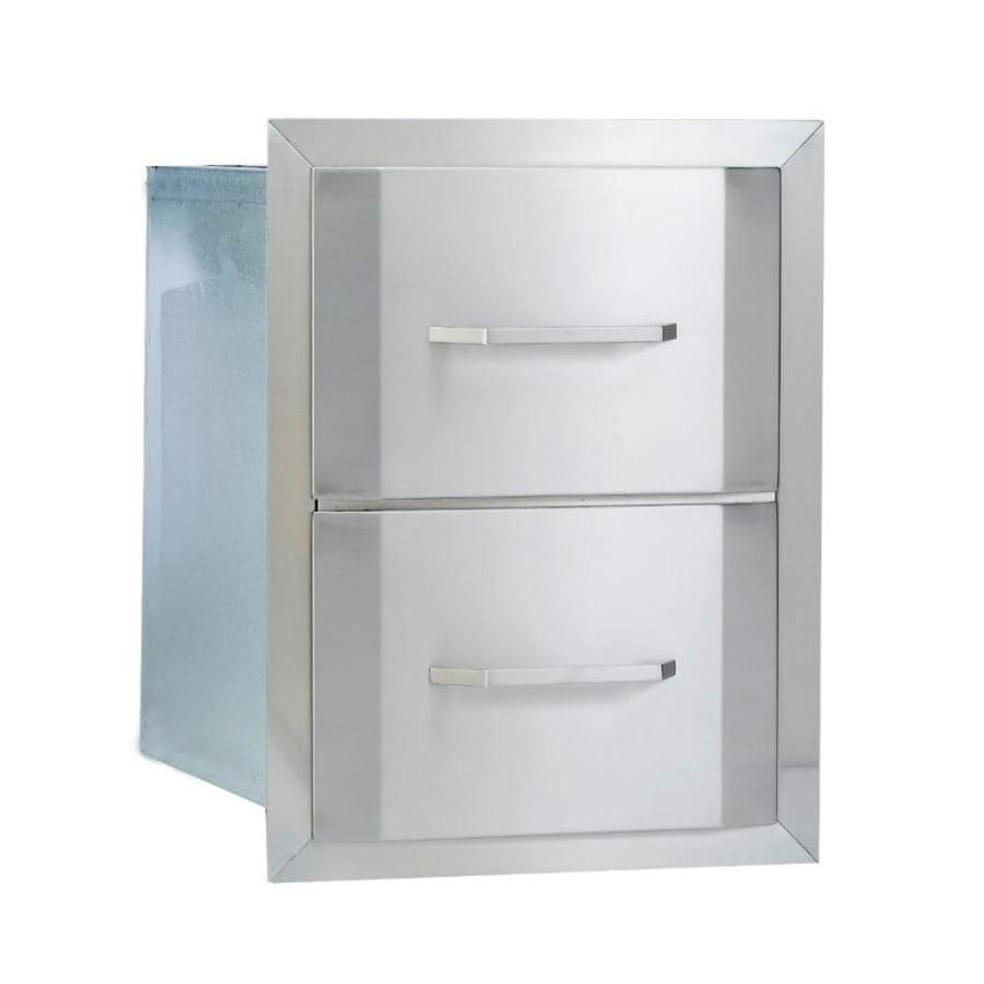 Bullet Built-In Grill Cabinet Double Drawer