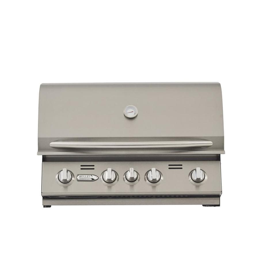 Bullet 4-Burner Built-In Liquid Propane Grill