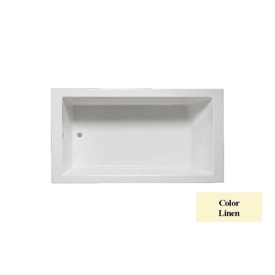 Laurel Mountain Parker 6 Linen Acrylic Rectangular Drop-in Bathtub with Reversible Drain (Common: 36-in x 66-in; Actual: 24-in x 36-in x 66-in