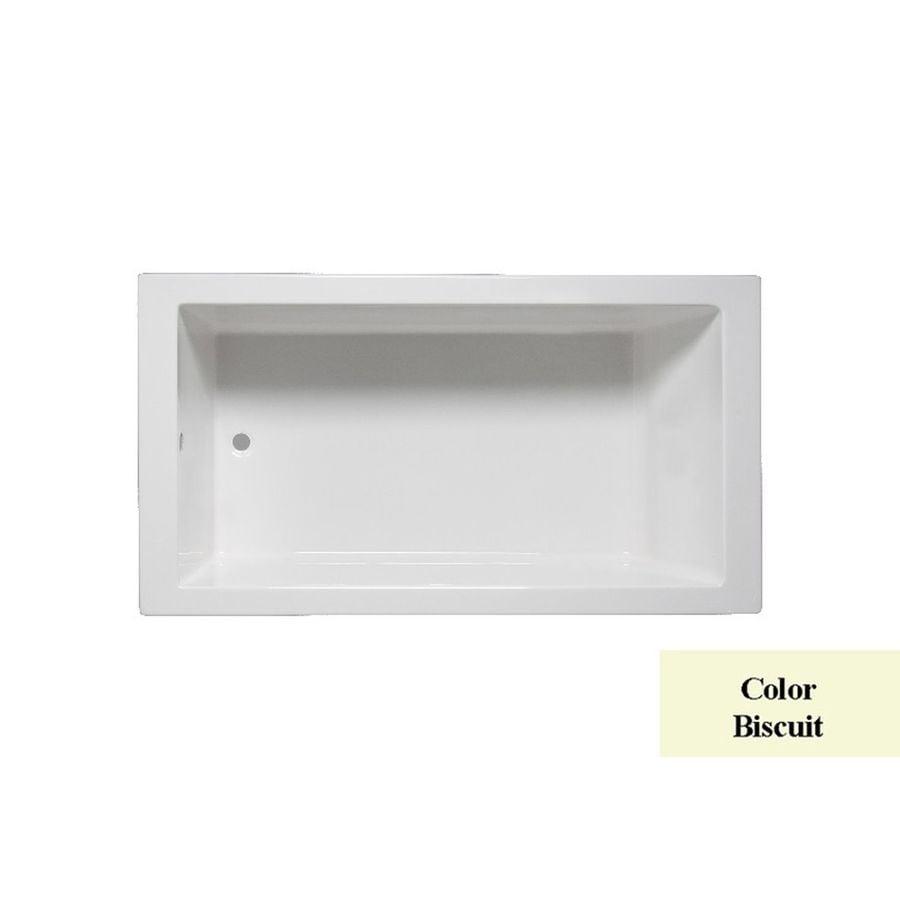 Laurel Mountain Parker 5 59.75-in Biscuit Acrylic Drop-In Bathtub with Reversible Drain