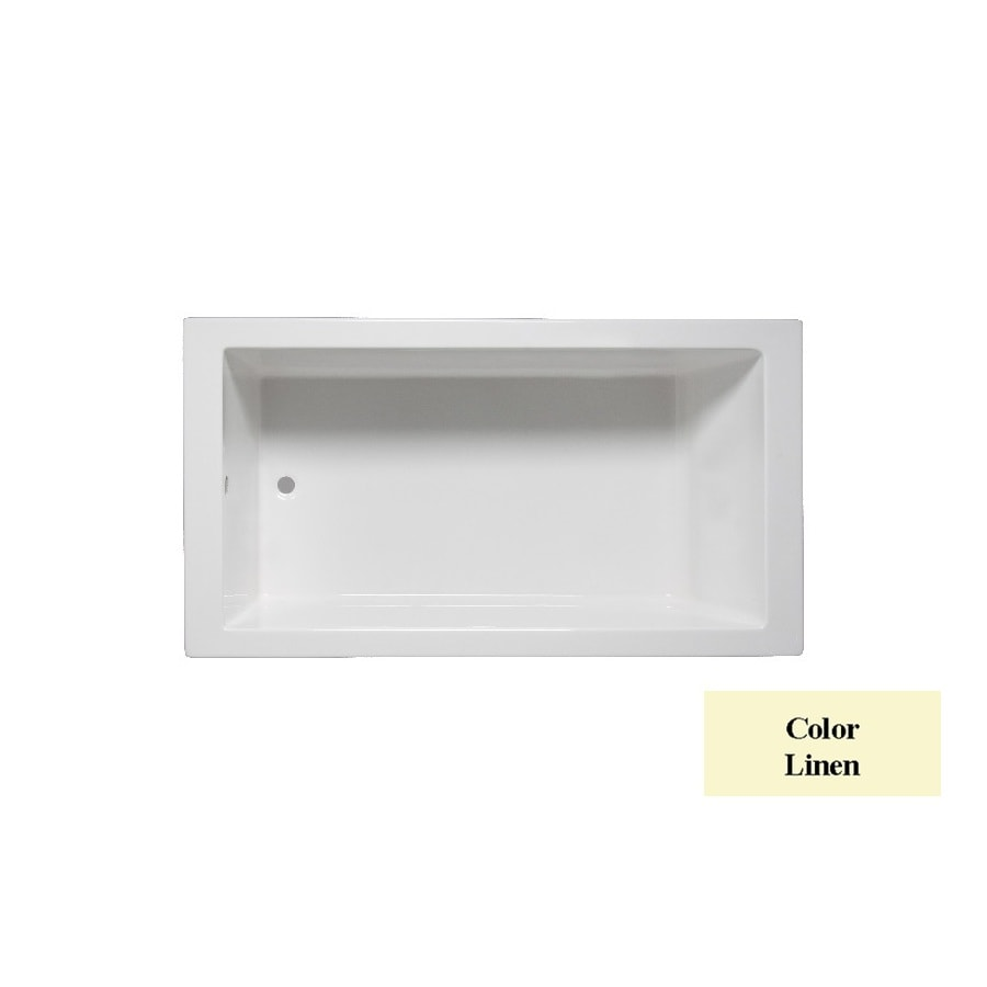 Laurel Mountain Parker 7 Linen Acrylic Rectangular Drop-in Bathtub with Reversible Drain (Common: 36-in x 72-in; Actual: 24-in x 35.875-in x 72-in