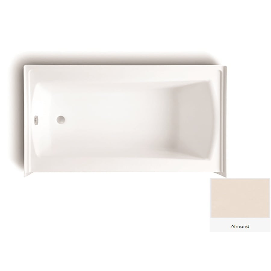 Laurel Mountain Parker 20 Almond Acrylic Rectangular Skirted Bathtub with Left-Hand Drain (Common: 30-in x 60-in; Actual: 22.75-in x 30-in x 60-in