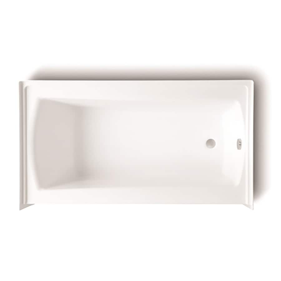Laurel Mountain Parker 20 60-in White Acrylic Skirted Bathtub with Right-Hand Drain