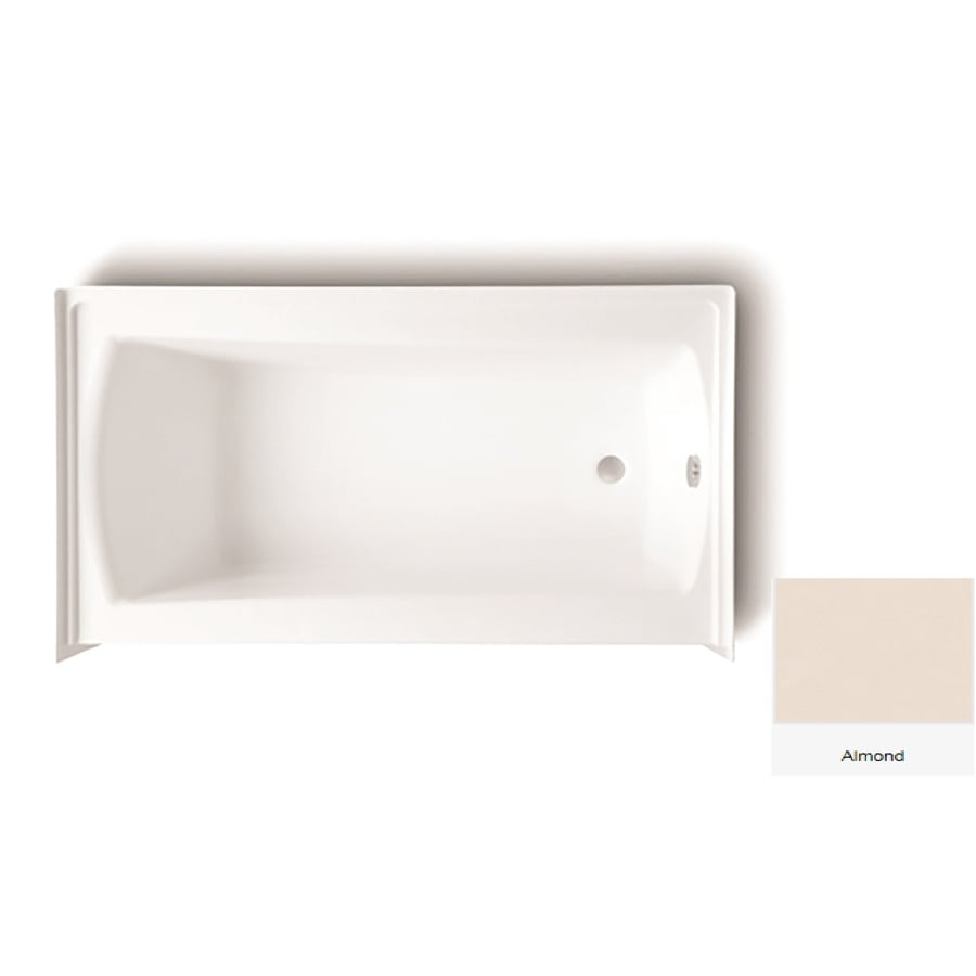 Laurel Mountain Parker 21 Almond Acrylic Rectangular Skirted Bathtub with Right-Hand Drain (Common: 32-in x 60-in; Actual: 22.75-in x 32-in x 60-in