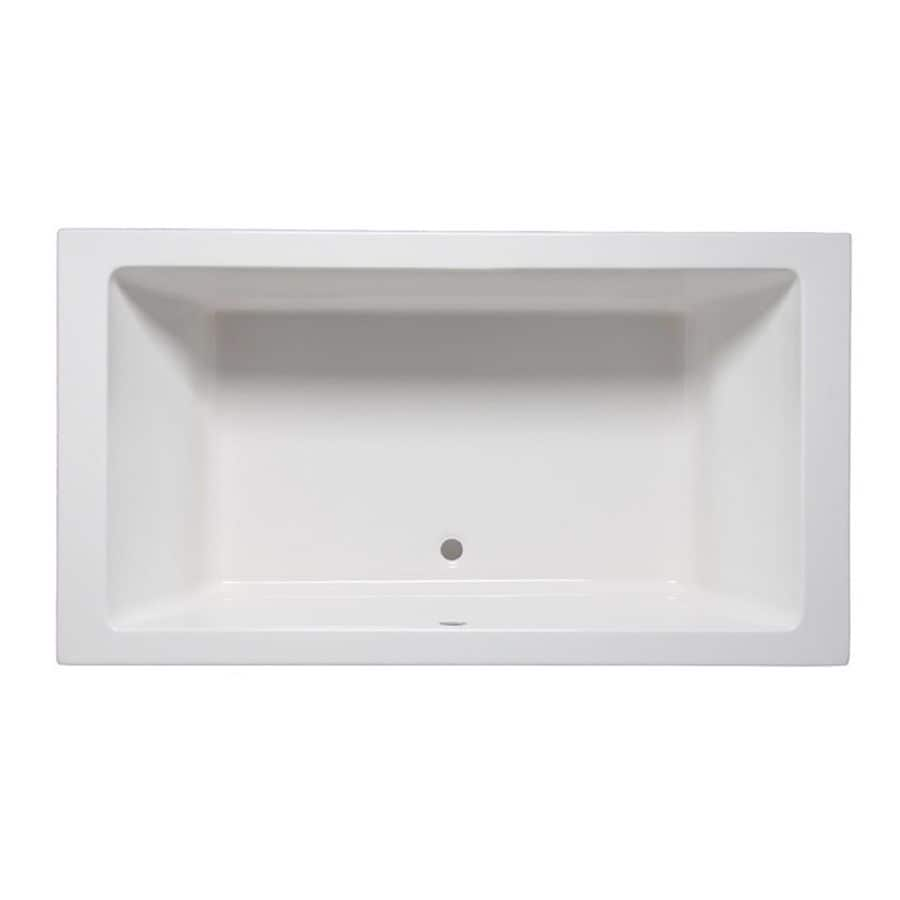 Laurel Mountain Farrell 5 71.25-in White Acrylic Drop-In Bathtub with Center Drain