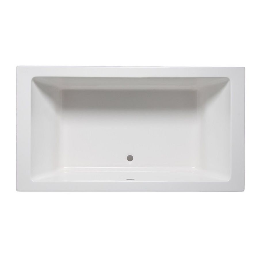 Laurel Mountain Farrell 1 White Acrylic Rectangular Drop-in Bathtub with Center Drain (Common: 36-in x 72-in; Actual: 24-in x 36-in x 66-in