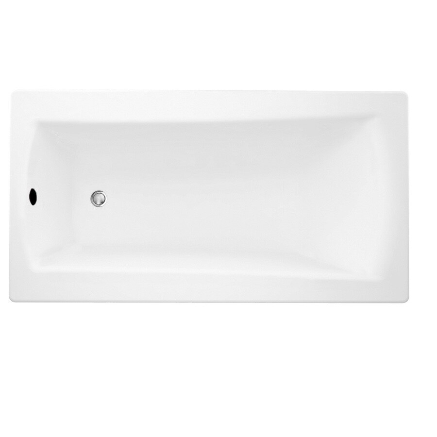 Laurel Mountain Boston 2 White Acrylic Rectangular Drop-in Bathtub with Reversible Drain (Common: 32-in x 72-in; Actual: 22-in x 32-in x 72-in