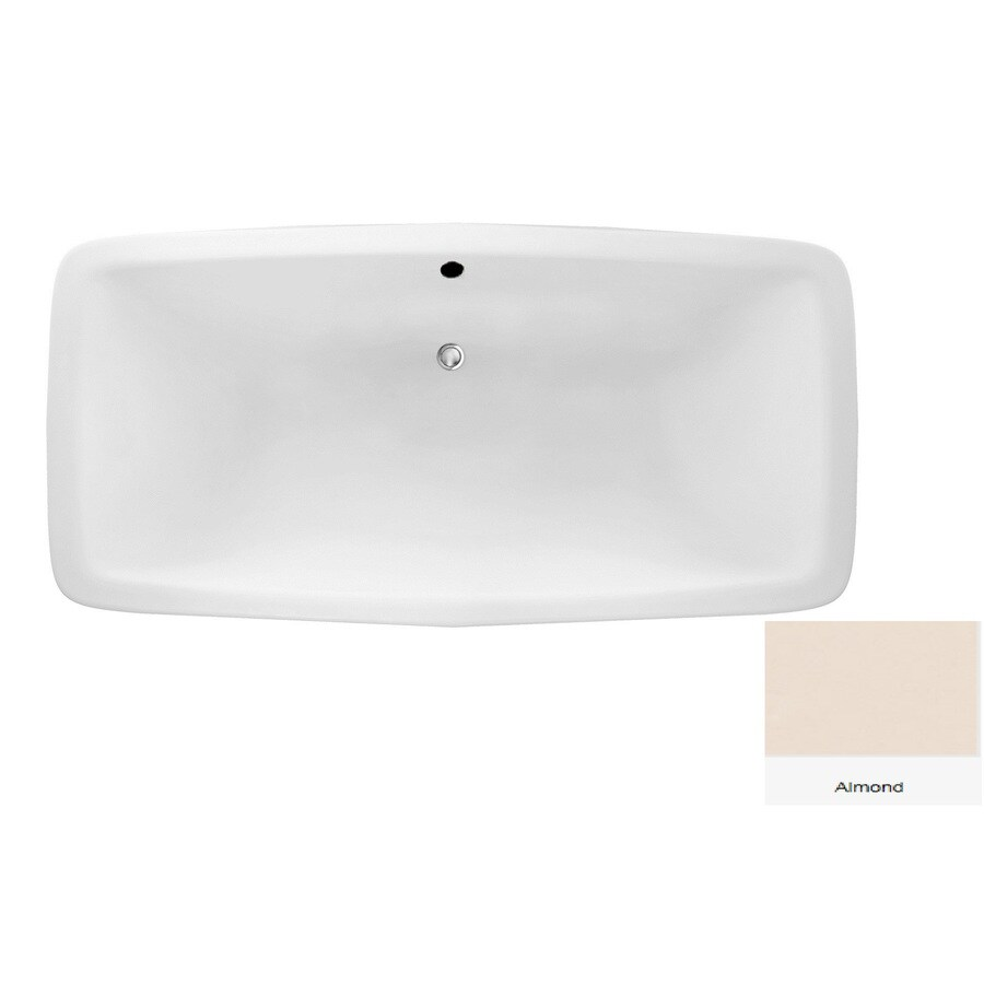 Laurel Mountain Severn Almond Acrylic Rectangular Drop-in Bathtub with Center Drain (Common: 36-in x 72-in; Actual: 22-in x 36-in x 72-in