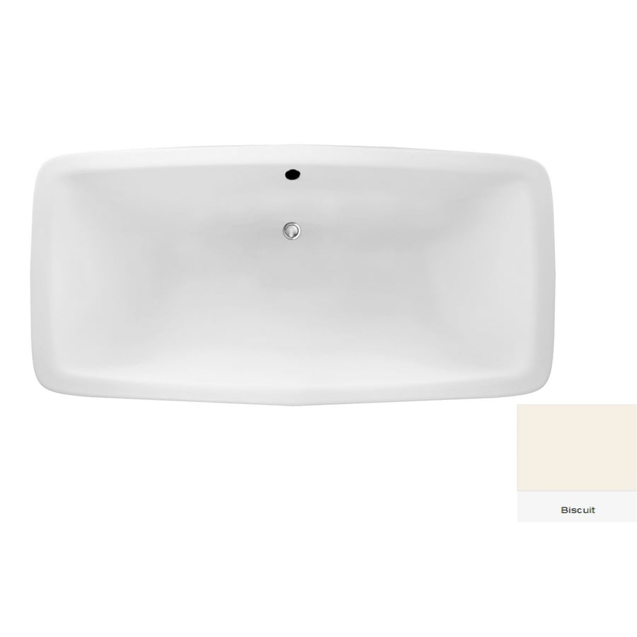 Laurel Mountain Severn Biscuit Acrylic Rectangular Drop-in Bathtub with Center Drain (Common: 36-in x 72-in; Actual: 22-in x 36-in x 72-in