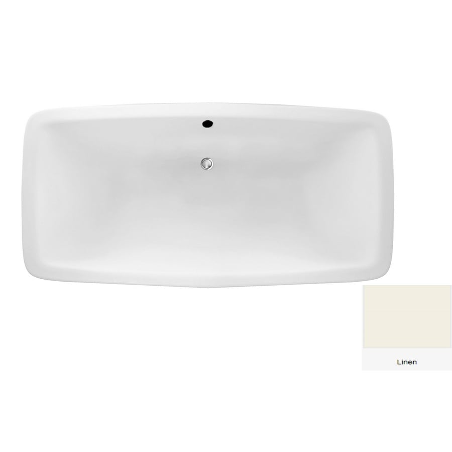 Laurel Mountain Severn Linen Acrylic Rectangular Drop-in Bathtub with Center Drain (Common: 36-in x 72-in; Actual: 22-in x 36-in x 72-in