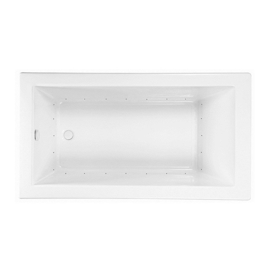 Laurel Mountain Parker 7 72-in White Acrylic Drop-In Air Bath with Reversible Drain