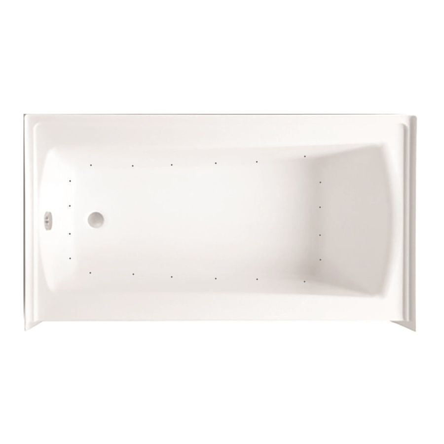 Laurel Mountain Parker 20 60-in White Acrylic Alcove Air Bath with Left-Hand Drain