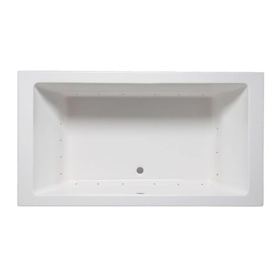 Laurel Mountain Farrell 5 71.25-in White Acrylic Drop-In Air Bath with Center Drain