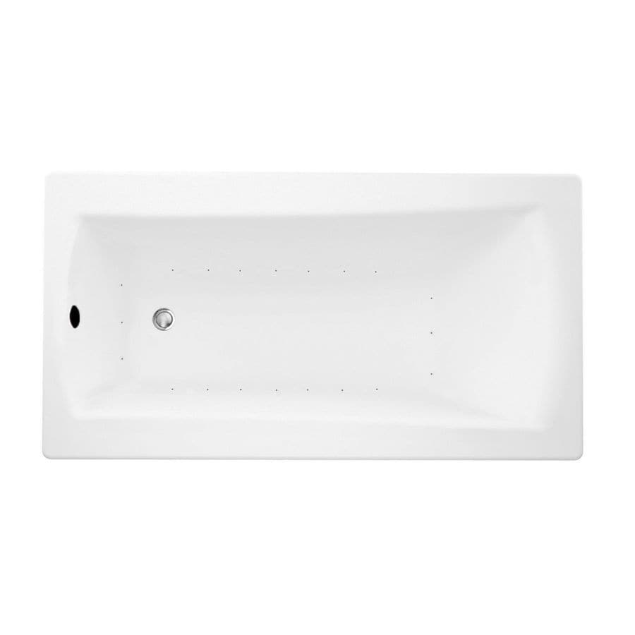 Laurel Mountain Boston 2 72-in White Acrylic Drop-In Air Bath with Reversible Drain
