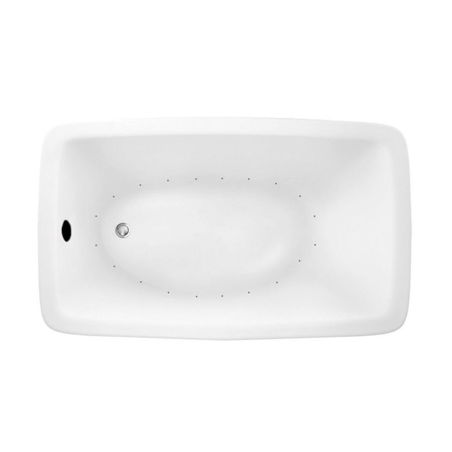 Laurel Mountain Moneta 1 60-in White Acrylic Drop-In Air Bath with Reversible Drain