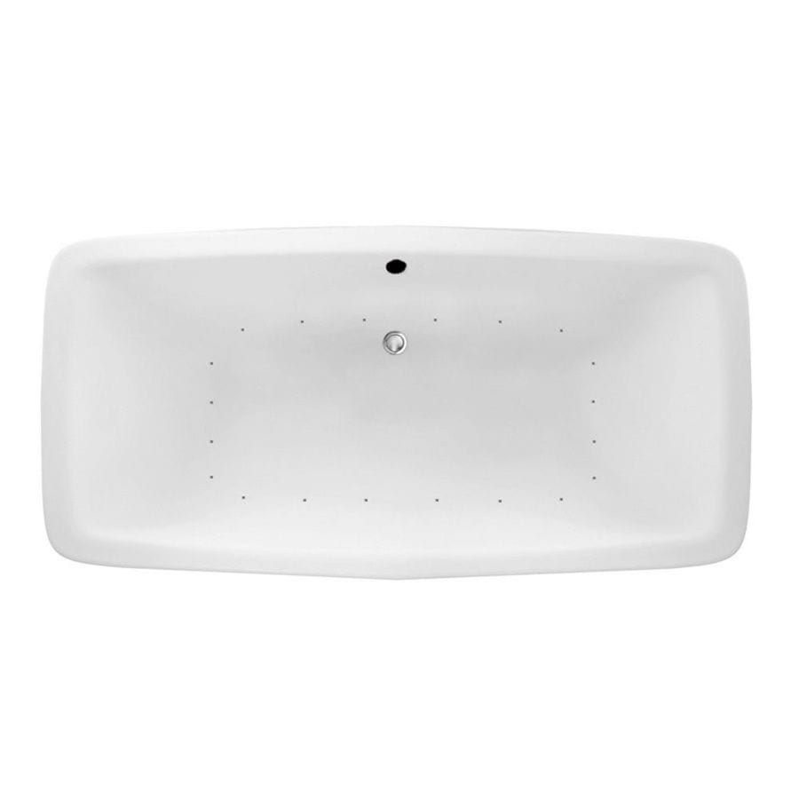 Laurel Mountain Severn 72-in White Acrylic Drop-In Air Bath with Center Drain