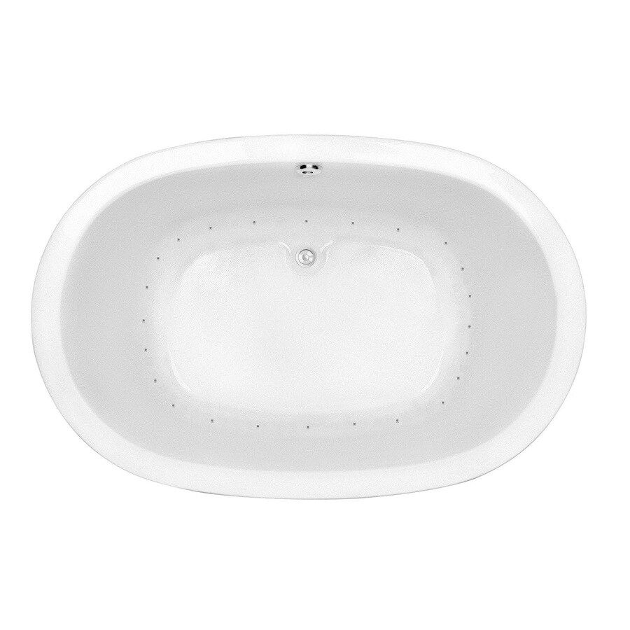 Laurel Mountain Crewe 2 74-in White Acrylic Drop-In Air Bath with Center Drain