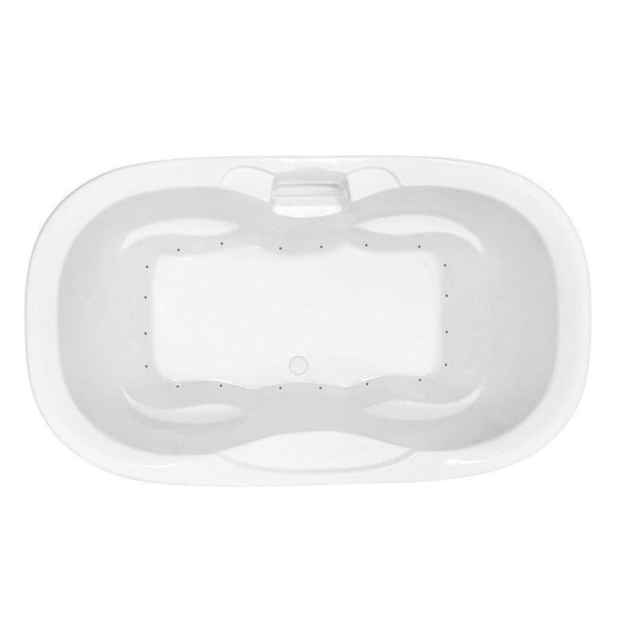 Laurel Mountain Melfa 70-in White Acrylic Drop-In Air Bath with Center Drain