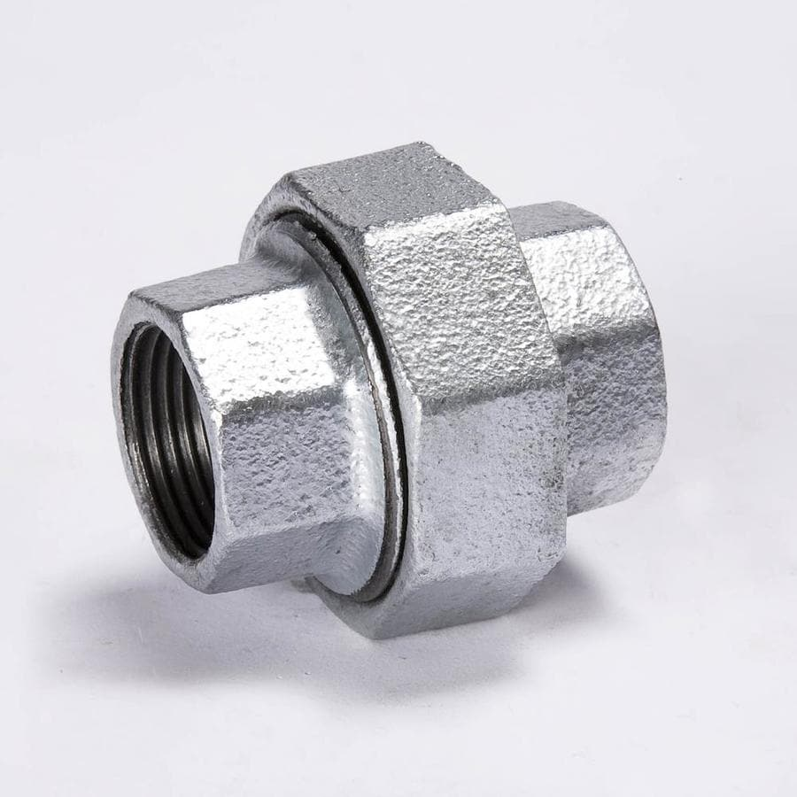 Shop b k in dia galvanized union fittings at lowes