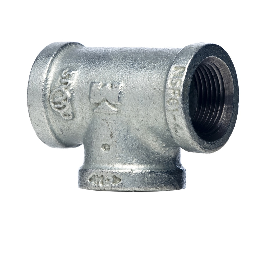 Mueller Proline 1/2-in x 1/2-in x 3/8-in Dia Galvanized Tee Fittings