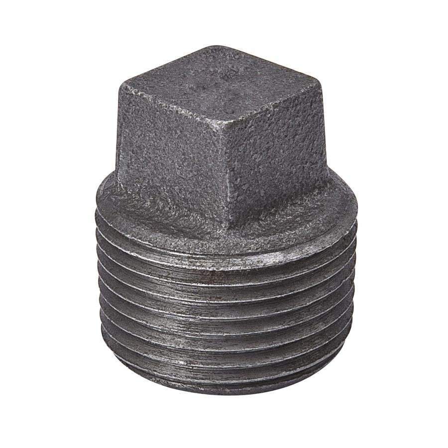 B&K 1/4-in dia Black Iron Plug Fitting